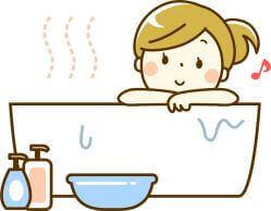 お風呂で血流が良くなる女性の絵