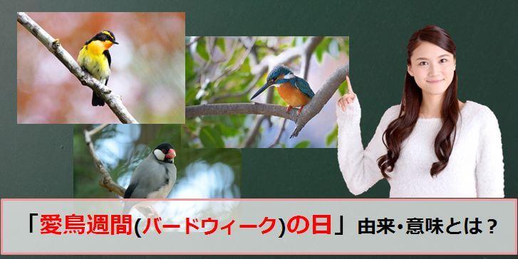 愛鳥週間(バードウィーク)のアイキャッチ画像